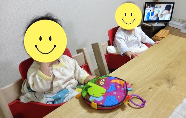 我が家の双子は6か月の時からトリップトラップを使い始めた