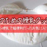 『双子のための授乳クッション』タンデム授乳で超便利だった私のお気に入り!!